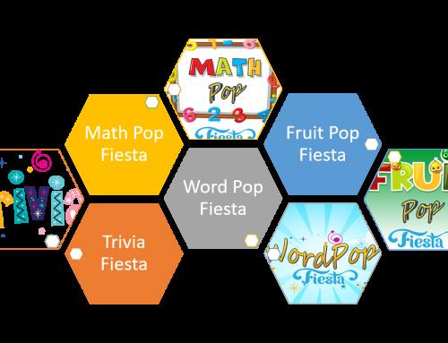 Introducing Web Editions of Trivia Fiesta, Word Pop Fiesta, Math Pop Fiesta and Fruit Pop Fiesta